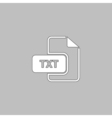TXT computer symbol vector image