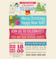 vintage santa claus newspaper with merry christmas vector image
