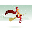 Christmas witch vector image vector image