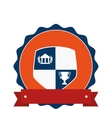 school emblem frame icon vector image