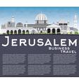 Jerusalem Skyline with Gray Buildings vector image