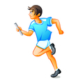 Runner boy vector image