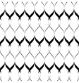 Black and white seamless pattern wave line style vector image