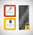 hosting infographic design vector image
