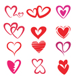 stylized hearts collection vector image vector image