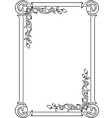 decorative frame for the page vector image vector image