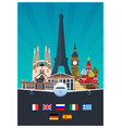 big collection of travel posters to the europe vector image