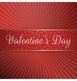 Big textile Ribbon with Valentines Day Text vector image