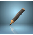 Black sharpened pencil icon vector image