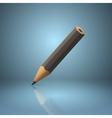 Black sharpened pencil icon vector image