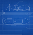 Blueprint ship vector image