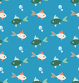 Bright colored seamless pattern of colorful fish vector image