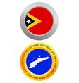 button as a symbol EAST TIMOR vector image