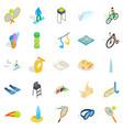 gamble icons set isometric style vector image