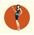 Girl hairdresser with dryer vector image