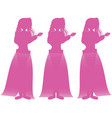 Hawaiian hula girls in pink vector image