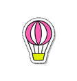 hot air ballon doodle icon vector image