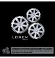 Metallic gear logo design template vector image
