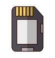 Microsd flash memory vector image