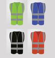 safety vest vector image