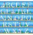 Summer Alphabet Cute Sea Town vector image