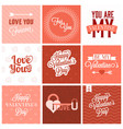 valentine day set vector image