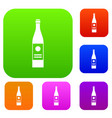 wine bottle set collection vector image