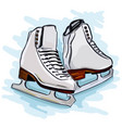 womens figure skates vector image