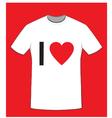 I love t shirt vector image