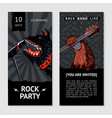 music flyer template with dog party invitation vector image
