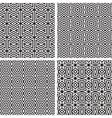 Geometric Ornaments Pattern Set vector image vector image
