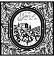 Olive grove black and white vector image