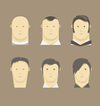 Different men faces style vector image vector image
