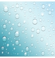 Blue water drops background vector image vector image