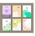 Set of six creative cards Abstract design vector image