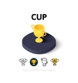 Cup icon in different style vector image