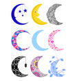 different moon nature cosmos cycle satellite vector image