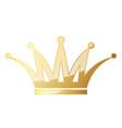 golden crown icon vector image