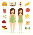 Infographic Diet vector image