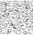 pattern with rabbits vector image