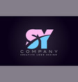 sy alphabet letter join joined letter logo design vector image