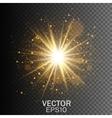 Transparent glow light effect Star burst vector image