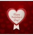 Valentines Day Banner with Text and Ribbon vector image