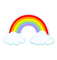 clouds and rainbow vector image vector image