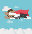 Super African businessman High speed Flying in Sky vector image