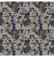 Pixel camo seamless pattern Blue camouflage vector image