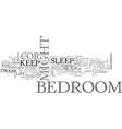 bedroom decor text word cloud concept vector image