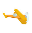 picture of an isolated yellow retro airplane with vector image