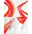 Set of abstract backgrounds Curve wave lines with vector image