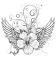 spring floral with wings vector image vector image